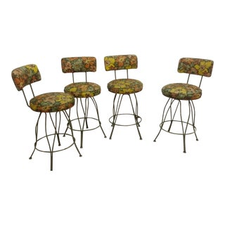 Vintage Kitchen Counter Stools - Set of 4