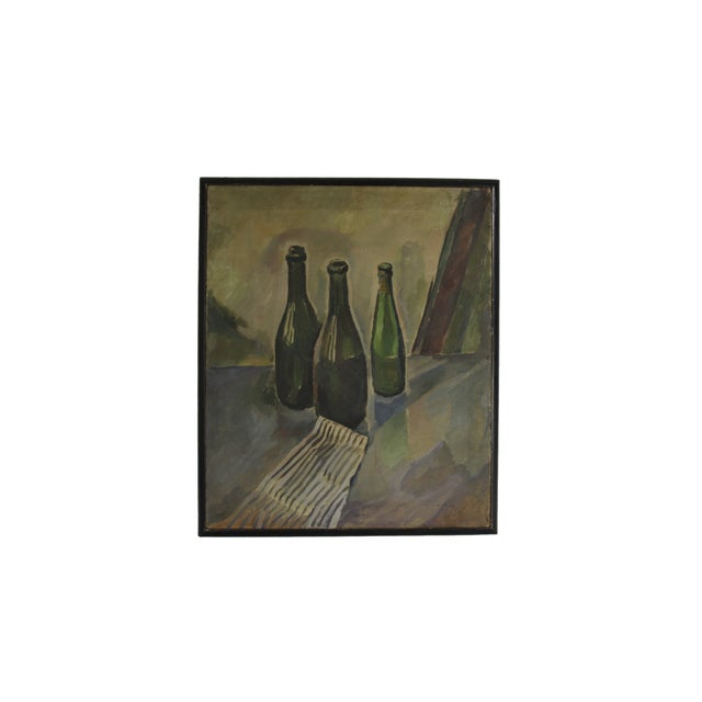 Image of Oil on Canvas Still Life Circa 1940's