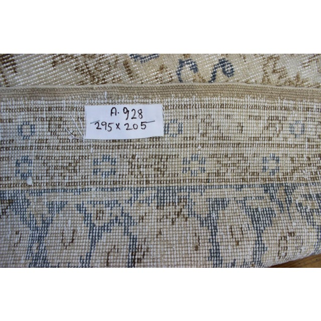 "Vintage Turkish Over-Dyed Cream Rug - 6'7"" x 9'7"" - Image 8 of 8"
