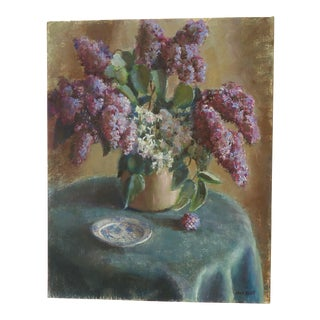 Jane Scott Still Life of Lilacs