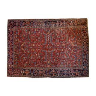 "Vintage Distressed Heriz Carpet - 9'5"" x 13'"