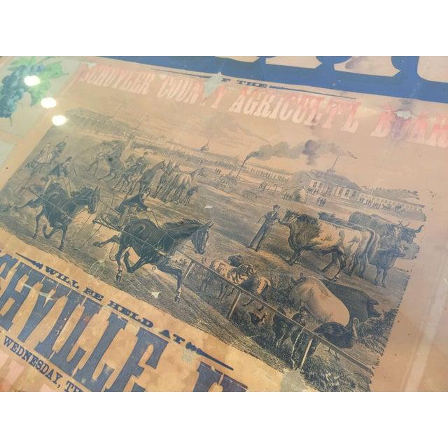Morgan Printing Co. 1883 County Fair Poster - Image 6 of 11
