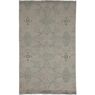 "New Oushak Hand Knotted Area Rug - 3'3"" x 5'1"""