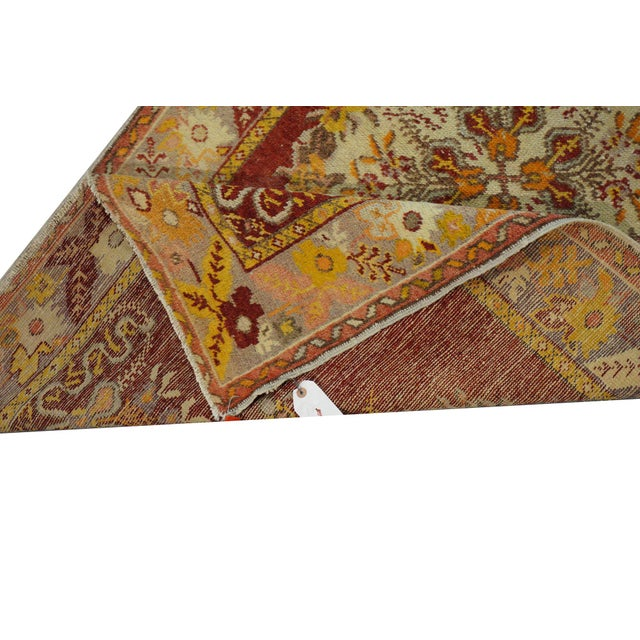 Vintage Turkish Oushak Rug - 3′2″ × 5′10″ - Image 4 of 4