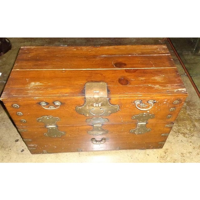 Antique Asian Drop Front Chest - Image 3 of 8