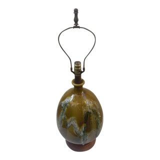 Mid Century Ceramic Drip Glaze Lamp