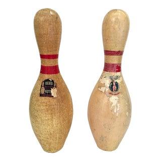 Vintage Bowling Pins - A Pair