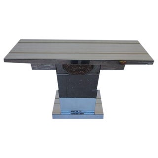 Geometric Design Mirrored Console
