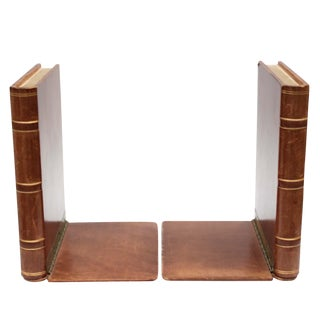 Leather Bookends - A Pair