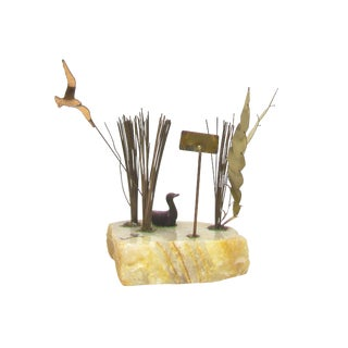 Curtis Jere Style Mid-Century Modern Wildlife Sculpture