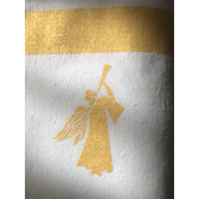 Large Gold White Angel Table Napkins - Set of 4 - Image 4 of 4