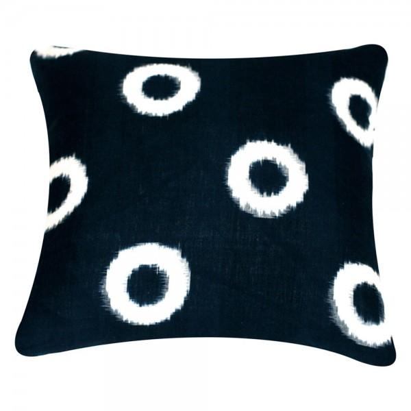 Blue Hand-Loomed Ikat Pillow - Image 1 of 2