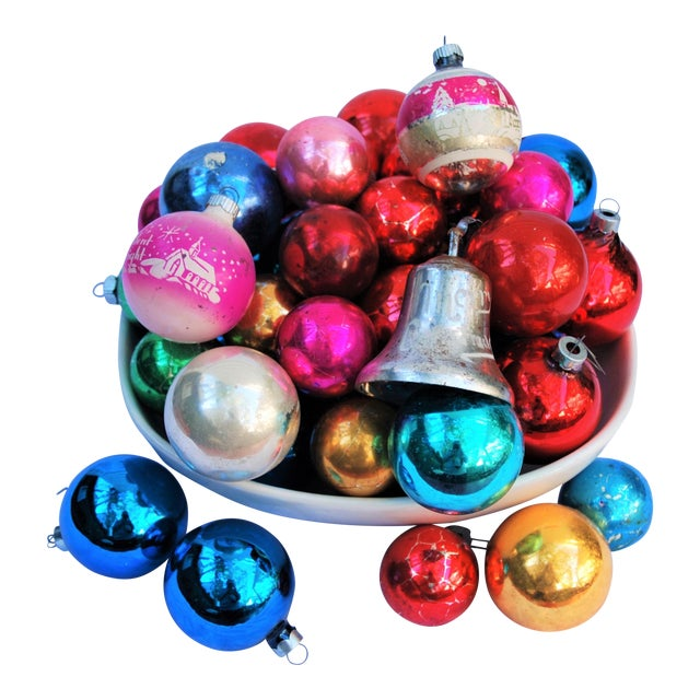 Vintage Christmas Ornaments - Set of 43 - Image 1 of 11