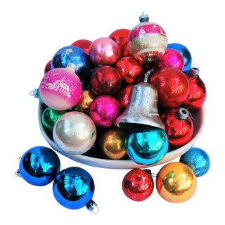 Vintage Christmas Ornaments - Set of 43