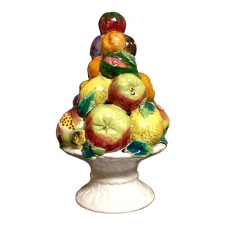 Ceramic Italian Fruit Topiary Centerpiece