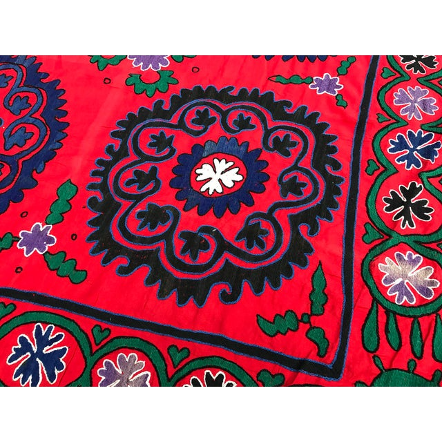 Red & Blue Antique Suzani Quilt | Chairish : suzani quilt - Adamdwight.com