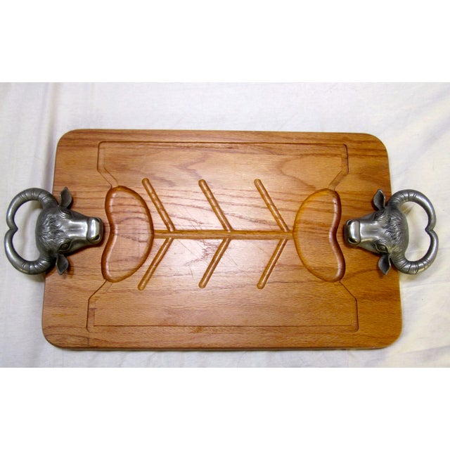 Image of Arthur Court Steer Cow Wood Cutting Carving Board
