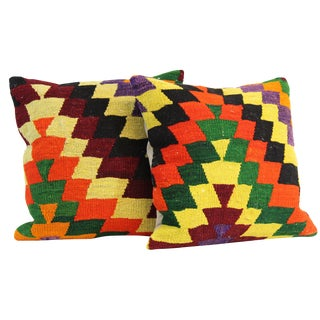 "Decorative Handmade 16"" Pillow Covers - Pair"