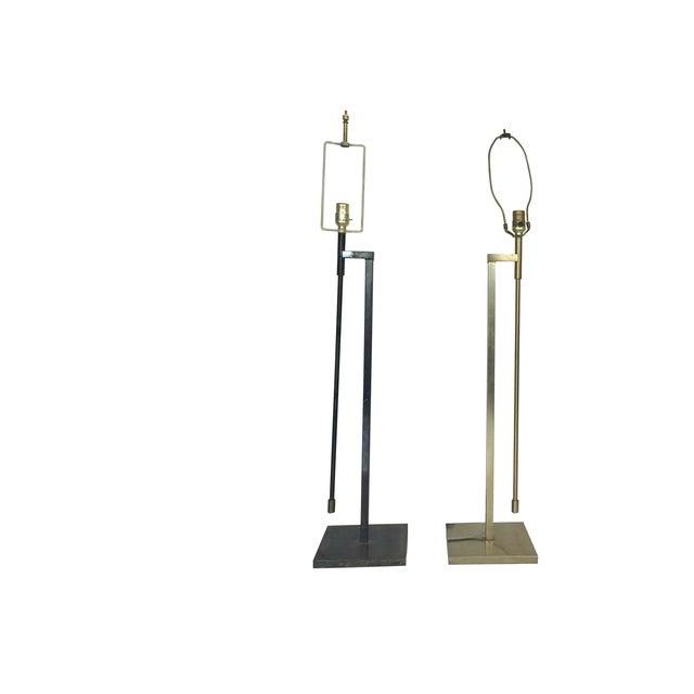 Vintage Laurel Adjustable Floor Lamps - A Pair - Image 1 of 11