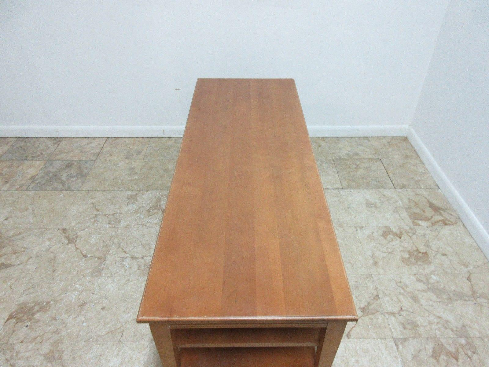Ethan Allen Swedish Home Long Coffee Table   Image 7 Of 8