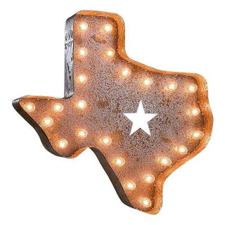 "24"" Vintage Marquee Texas Light"