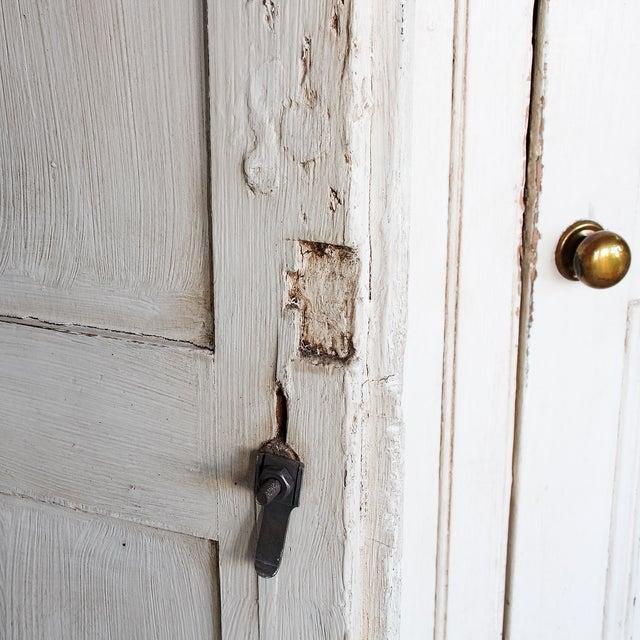 Antique White Distressed Schoolhouse Lockers - Image 7 of 11