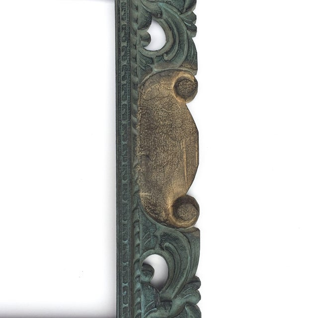 East Asian Hand Carved Mirror Frame - Image 4 of 5