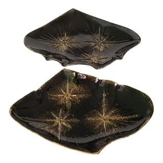 Mid-Century Modern California Pottery Serving Platters - a Pair