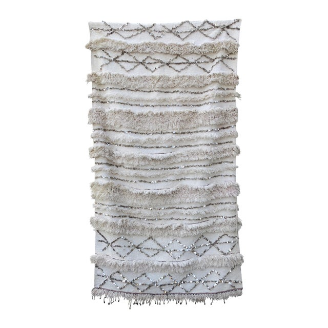 Vintage White Moroccan Wedding Blanket - Image 1 of 5