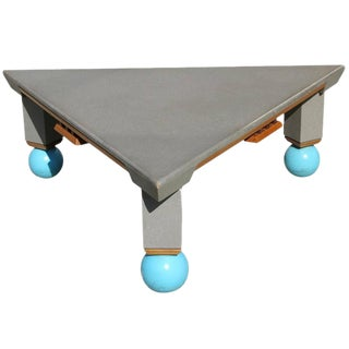 Large Triangle Memphis Coffee Table in the Ettore Sottsass Style