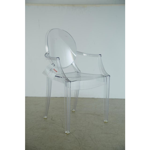 Louis XVI Ghost Chairs by Philippe Starck for Kartell, Unused With Original Tags, Four (4) Available - Image 9 of 9