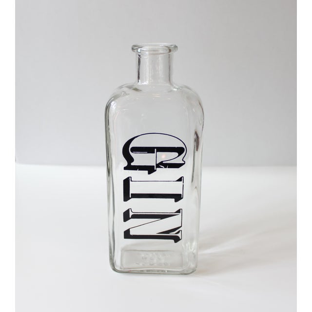 "Image of Vintage TC Wheaton ""Gin"" Liquor Bottle"