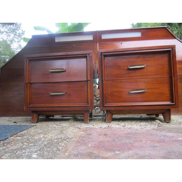 Mid Century Walnut Bedroom Set Chairish