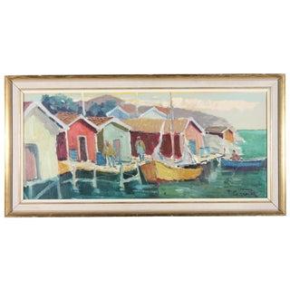 T.G. Fiskebodar Bohuslan Oil Painting