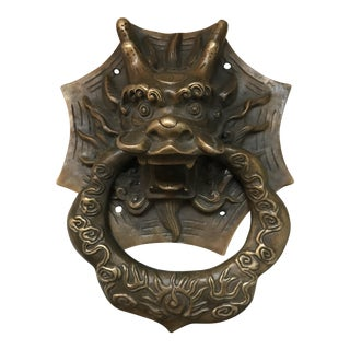 Asian Dragon Brass Door Knocker