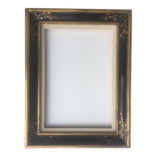 Vintage Gilt Black Painted Frame