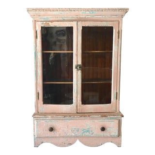 Shabby Chic Display Cabinet / Jewelry Display Case