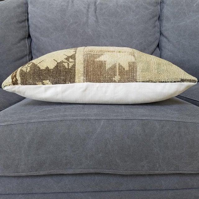 Vintage Turkish Rug Fragment Pillow - Image 9 of 10
