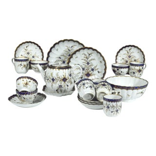 18th-century First Period Worcester Porcelain Tea Service