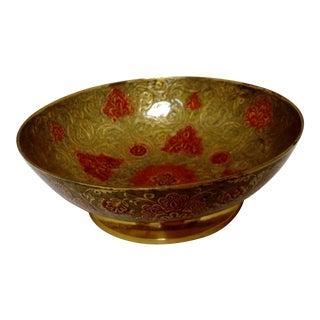 Solid Brass Cloisonné Bowl