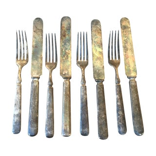 Antique Civil War Forks & Knives - Set of 8
