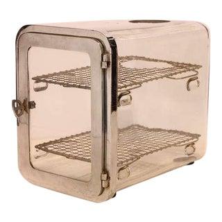 1930's Barber Shop Chrome Sterilizer Cabinet