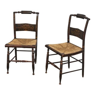 Pr. Antique Hitchcock Side Chairs