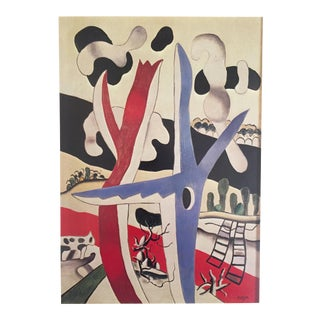 "Fernand Leger Vintage 1976 Lithograph Print ""Still Life With Blue Tree "" 1914"