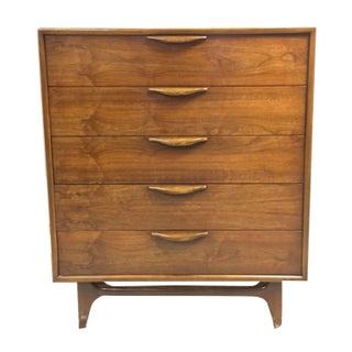 Lane Altavista Walnut Highboy Dresser