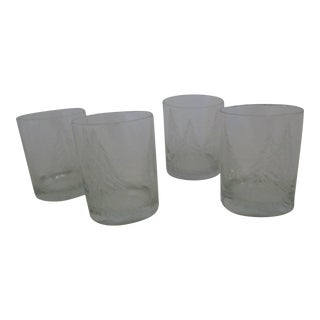 Christmas Tree Old Fashioned Glasses- 4 Pieces