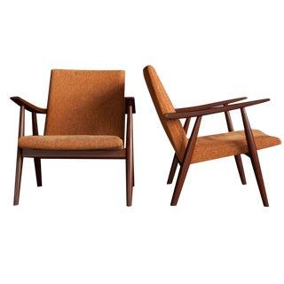 "Hans Wegner ""Ge 260"" Lounge Chairs - Set of 2"