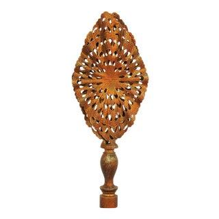 Vintage Gold Filigree Lamp Finial