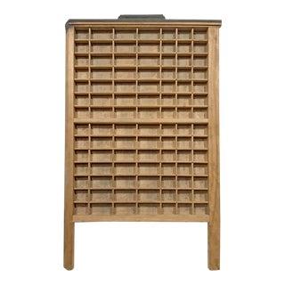 Vintage Letterpress Wooden Tray