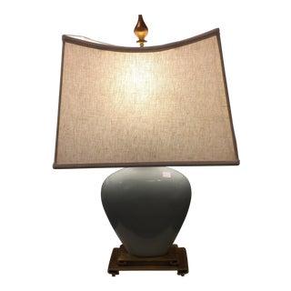 Transitional Light Blue Lamp